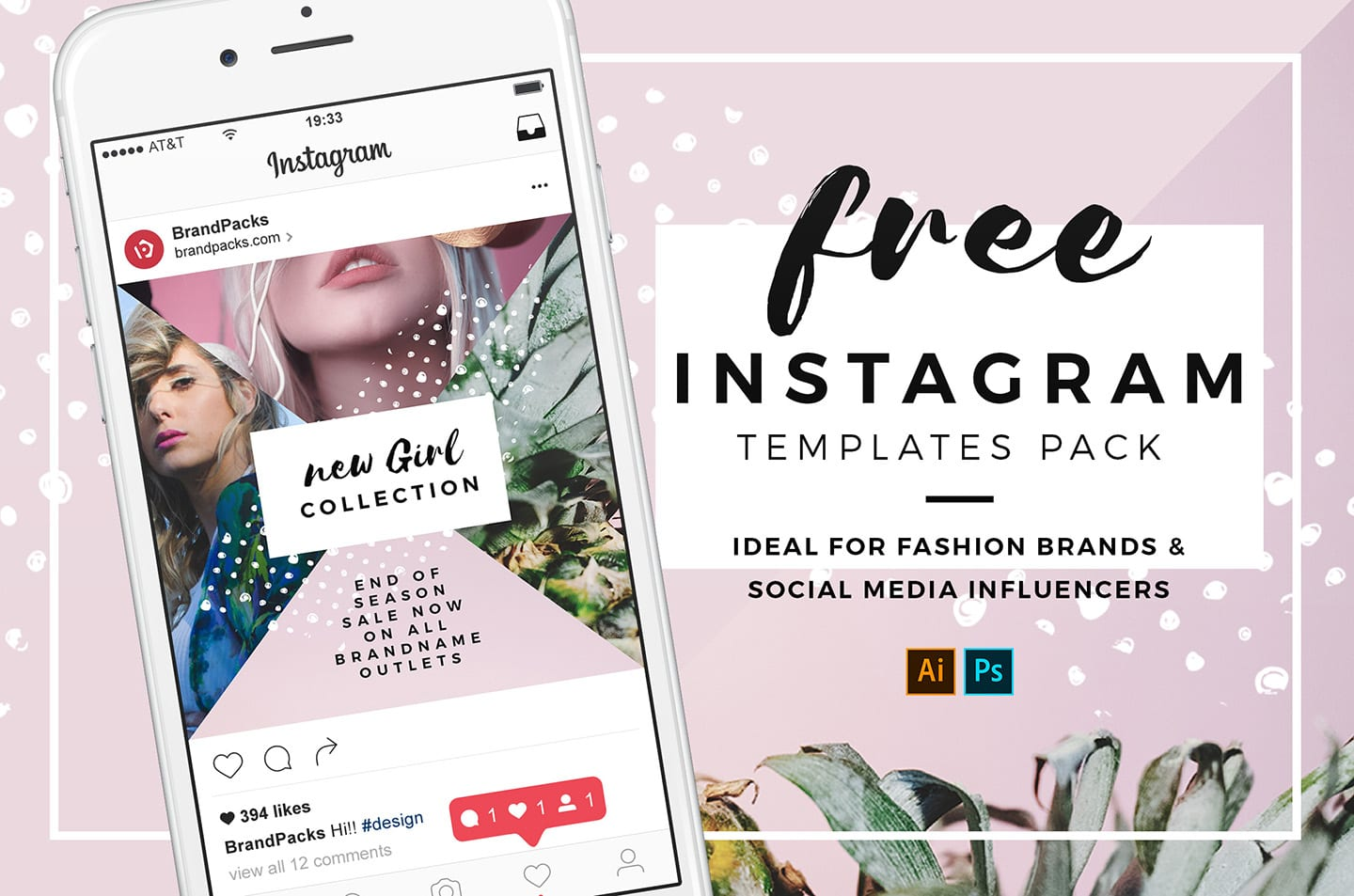 Free Instagram Templates In Psd Ai Vector Brandpacks
