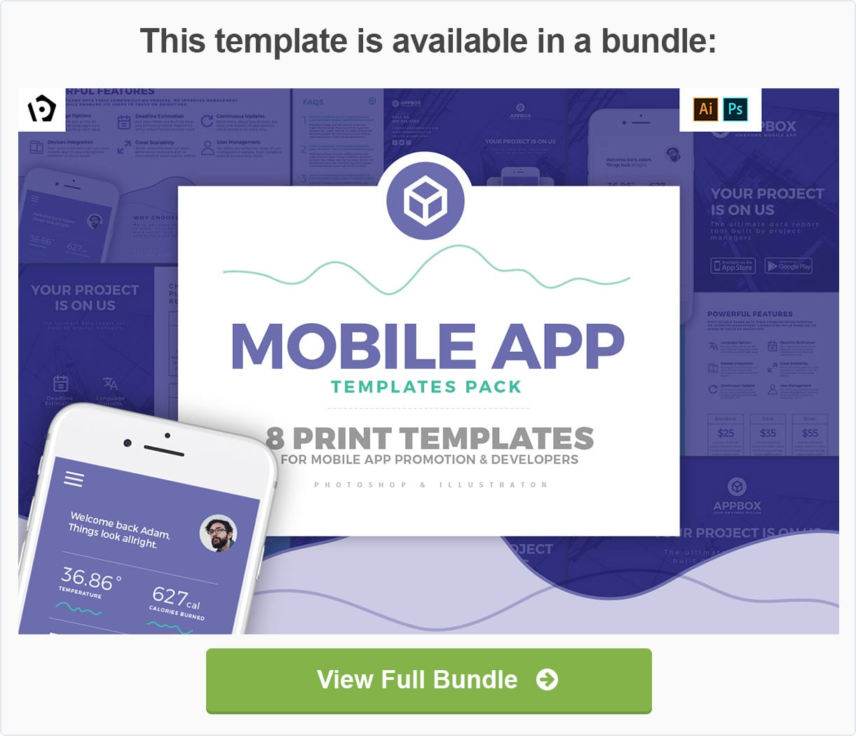 mobile app flyer template by brandpacks graphicriver
