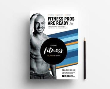 Free Fitness Poster Template