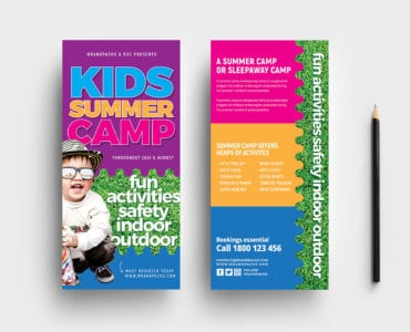 Free Kid's Camp DL Flyer Template