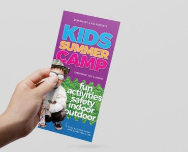 Free Kid's Camp DL Rack Card Template