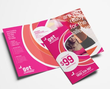 Free Female Fitness Tri-Fold Brochure Template