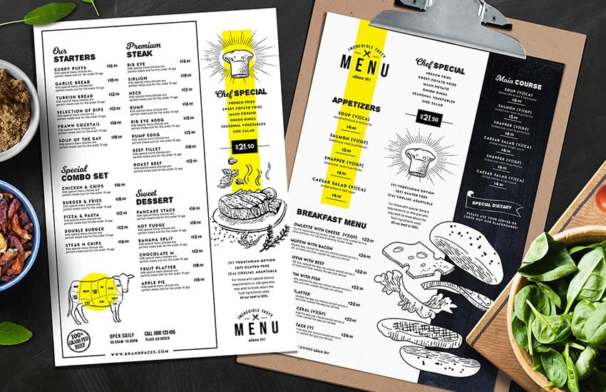 Food Menu Templates