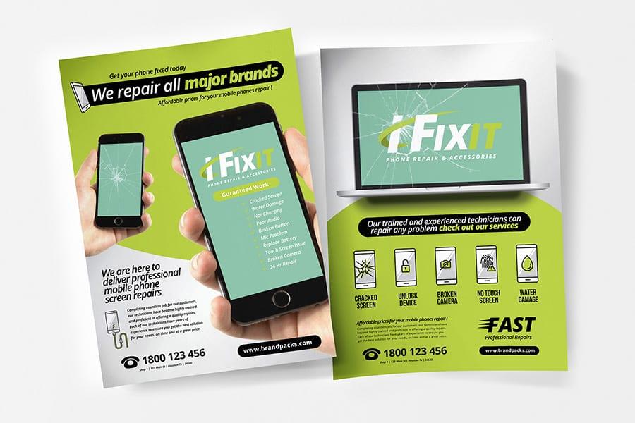 Phone Repair Shop Poster Template