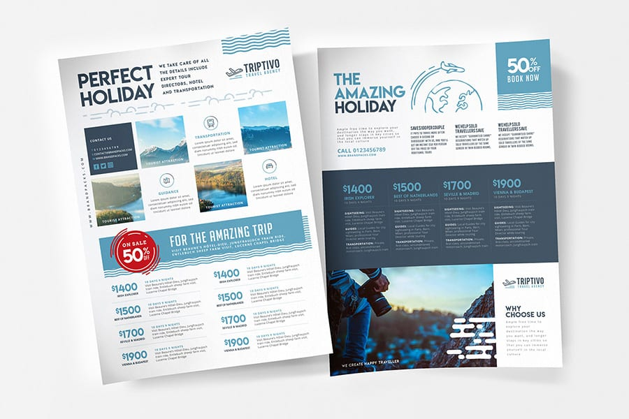 Travel Company Poster Templates