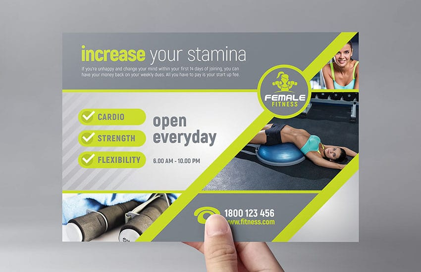 Female Fitness Flyer Template