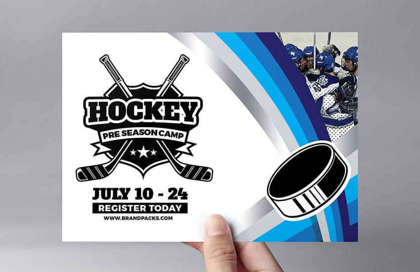 Hockey Club Flyer Template