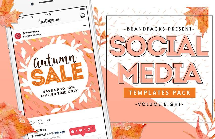 Autumn / Fall Social Media Templates
