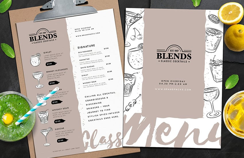 Cocktail Menu Templates Vol.2