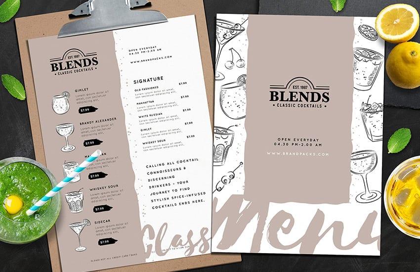 Cocktail Menu Template Vol.2