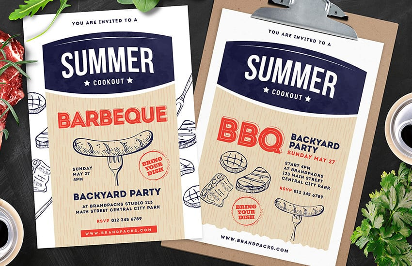 Cookout / BBQ Poster Templates