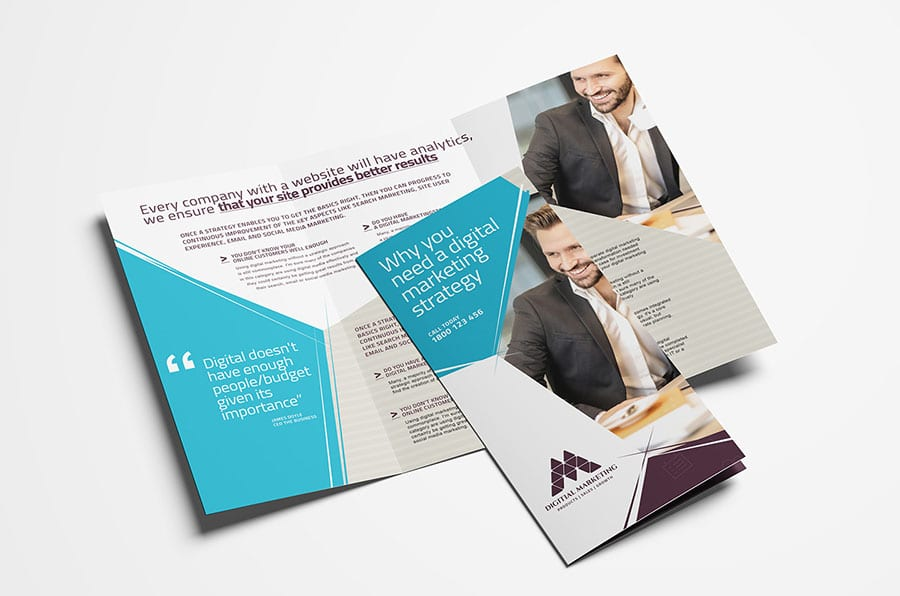 Digital Marketing Tri-Fold Brochure Template