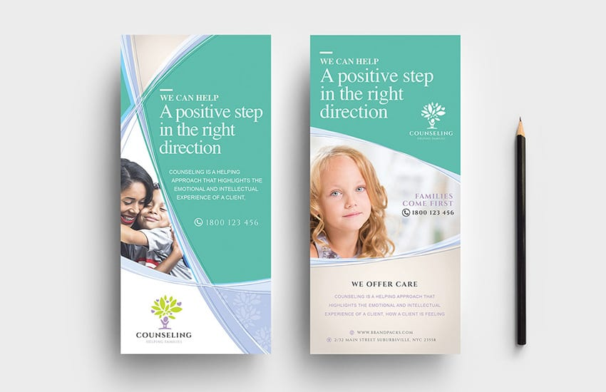 DL Counselling Rack Card Template