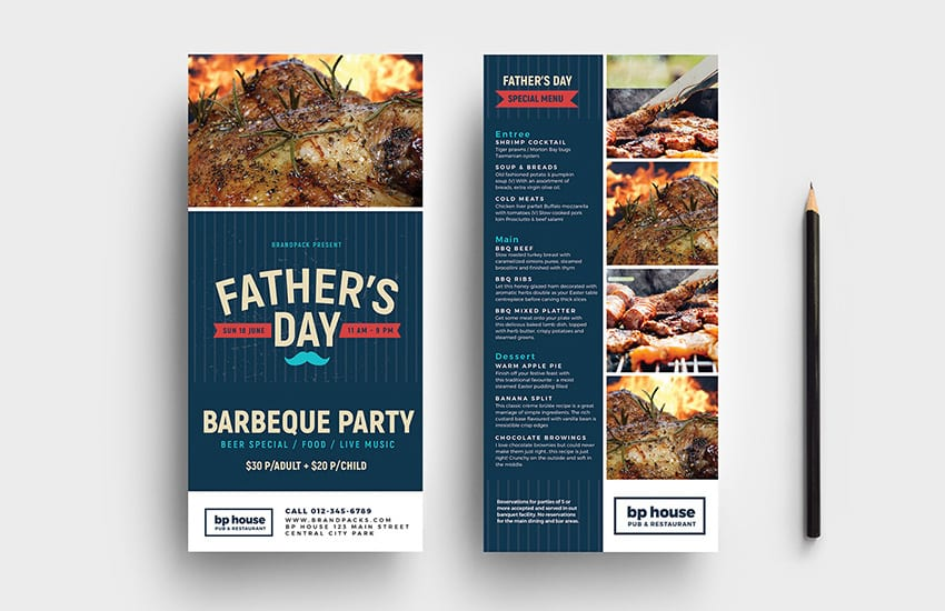 Fathers Day DL Card Template