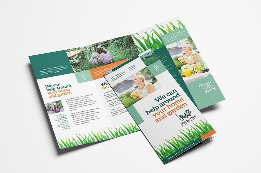 Gardener Trifold Brochure Template