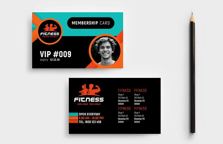 Gym / Fitness Membership Card Template