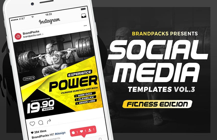 Social Media Templates for Fitness & Gyms