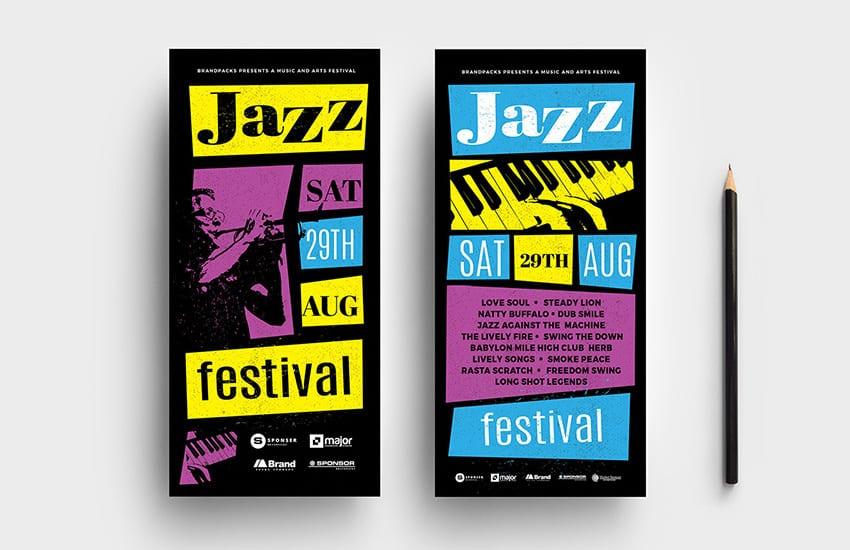 Jazz Night DL Card Template