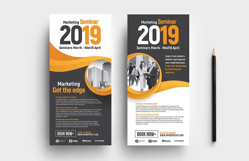 Marketing Seminar DL Card Template