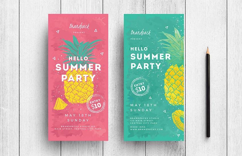 Minimal Summer DL Card Template