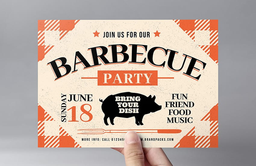 Rustic BBQ Flyer Template