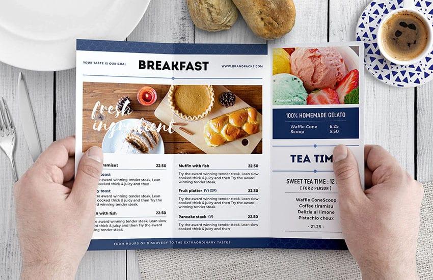 Tri-Fold Breakfast Menu Template