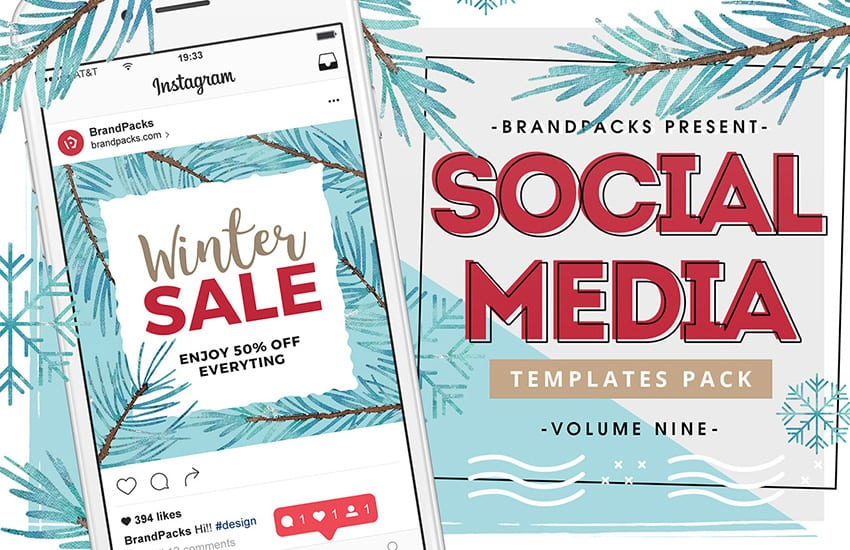 Winter / Christmas Sale Social Media Templates