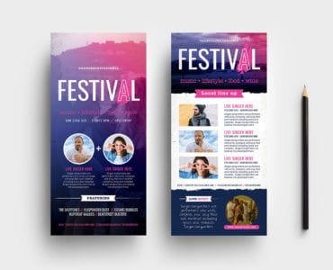 Free Festival / Concert DL Rack Card Template