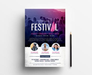 Free Festival / Concert Poster Template