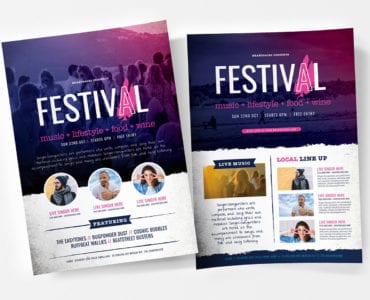 Free Festival / Concert Poster Templates