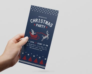 Free Christmas DL Rack Card Template