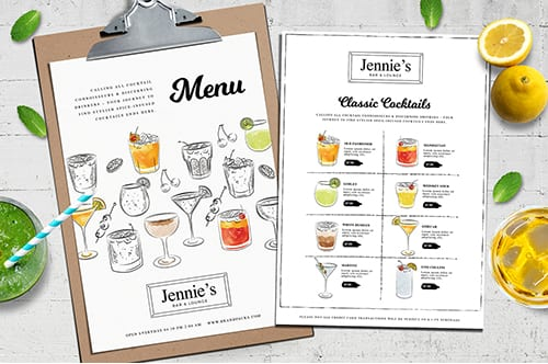 Cocktail Menu Template Vol.3