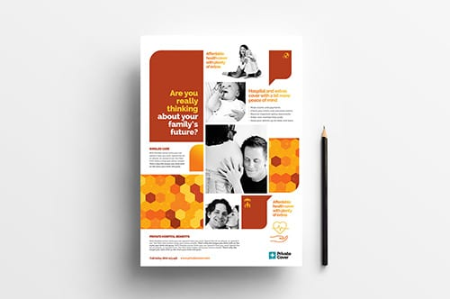 A4 Health Insurance Poster Templates