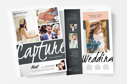 A4 Wedding Photography Poster Templates