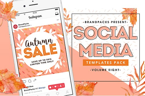 Autumn / Fall Social Media Templates