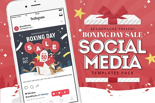 Boxing Day Sale Social Media Templates
