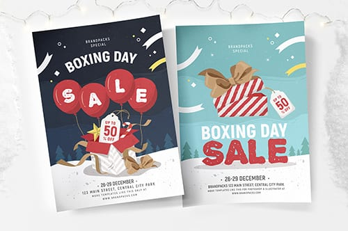 Boxing Day Sale Poster Template 2