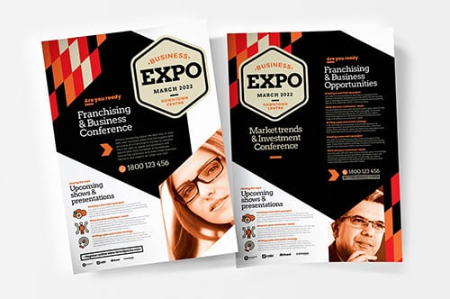 Business Expo A4 Poster Templates