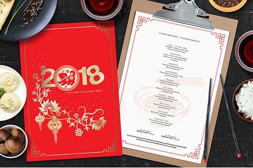 Chinese New Year Menu Templates
