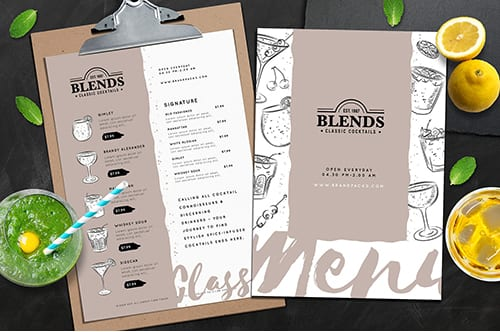Cocktail Menu Templates Vol.1