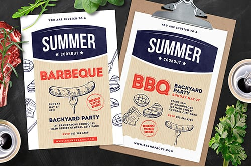 Cookout / BBQ Flyer & Poster Template