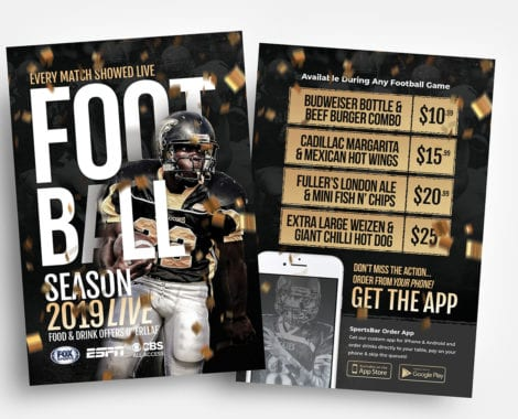 Free American Football Flyer Templates