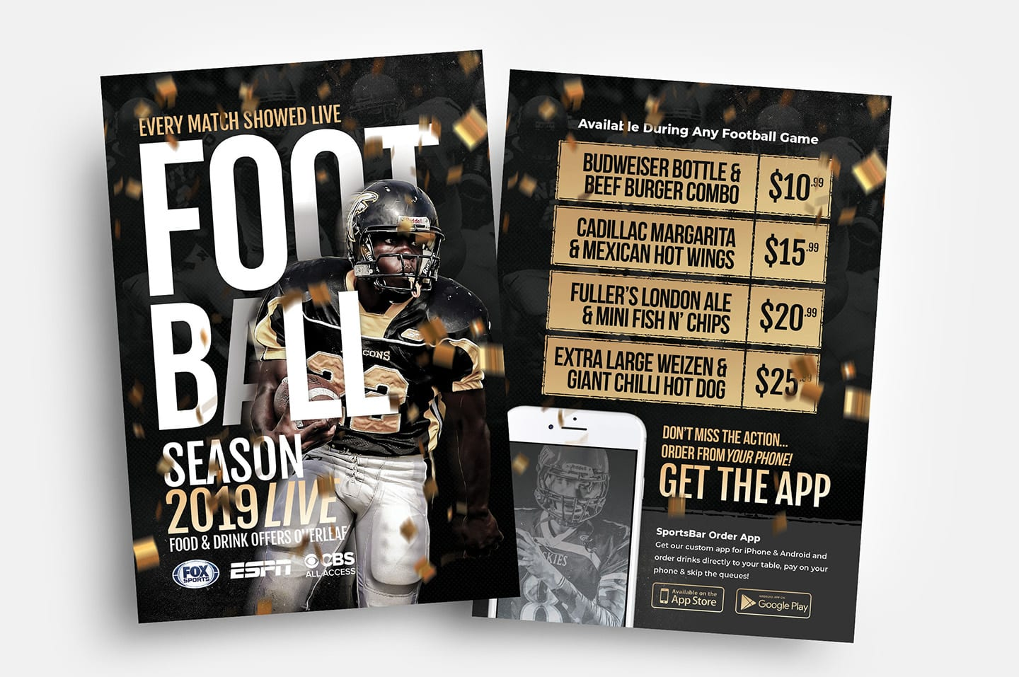 free american football flyer template