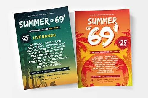 Free Summer Party Poster Templates