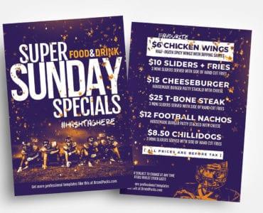 Free Super Sunday Flyer Templates