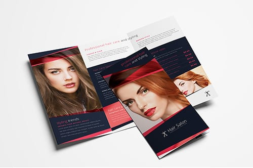 Hair Salon Trifold Brochure Template