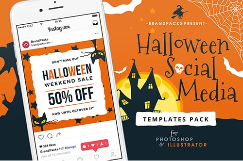 Halloween Social Media Templates Pack