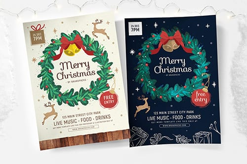 Ornate Christmas Poster Templates