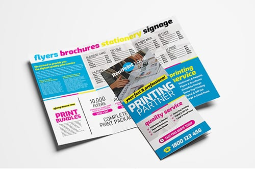 Print Shop Tri-Fold Brochure Template