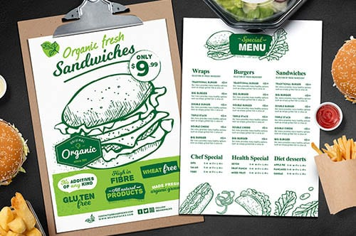 Food & Drink Templates in PSD & Vector